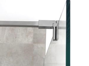 Eckige matte Stabilisierungsstange mit Glashalter an 8 mm ESG