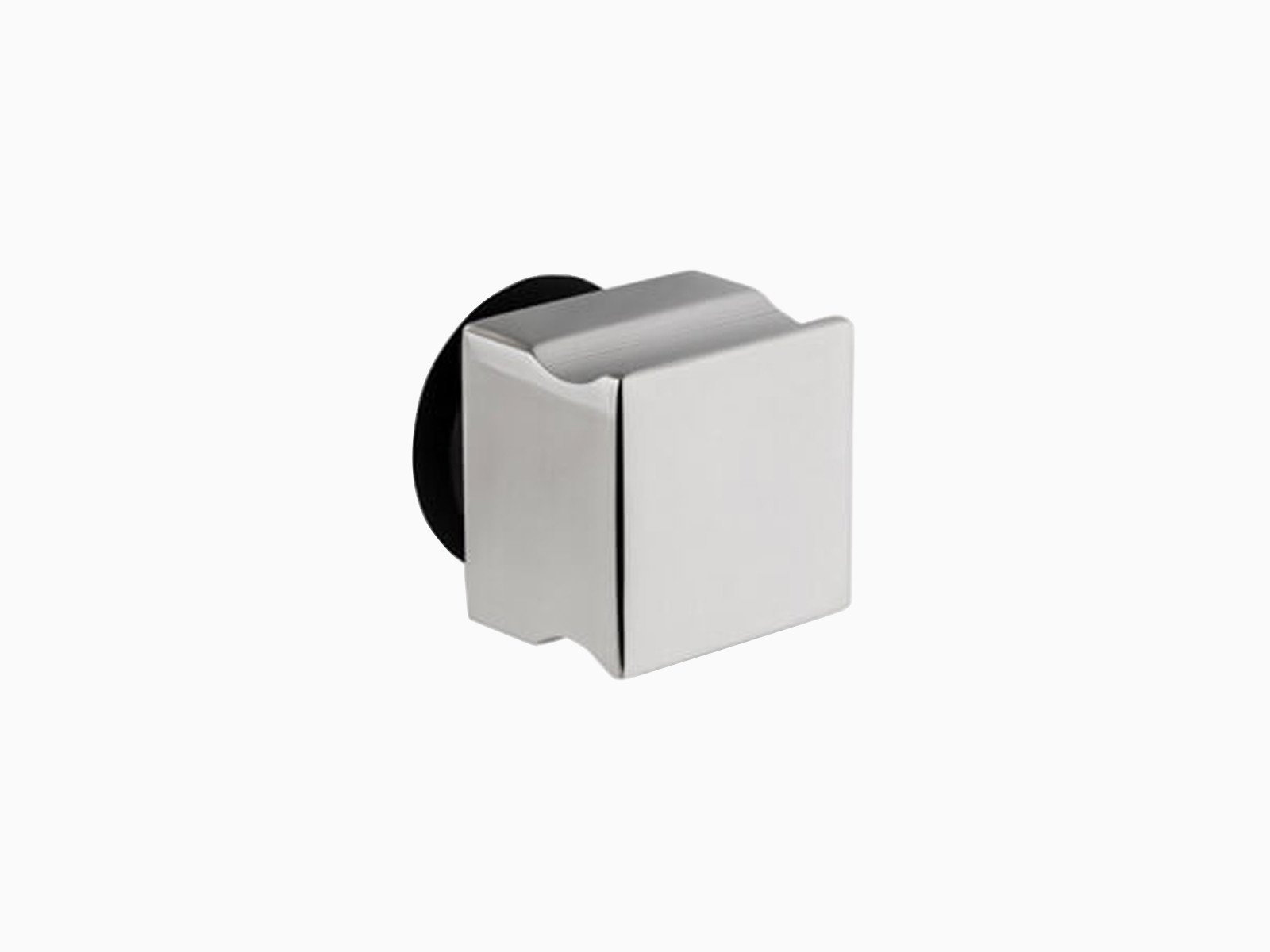 Aussengriff für Glas in quadratischer Form in hochglänzendem Edelstahl