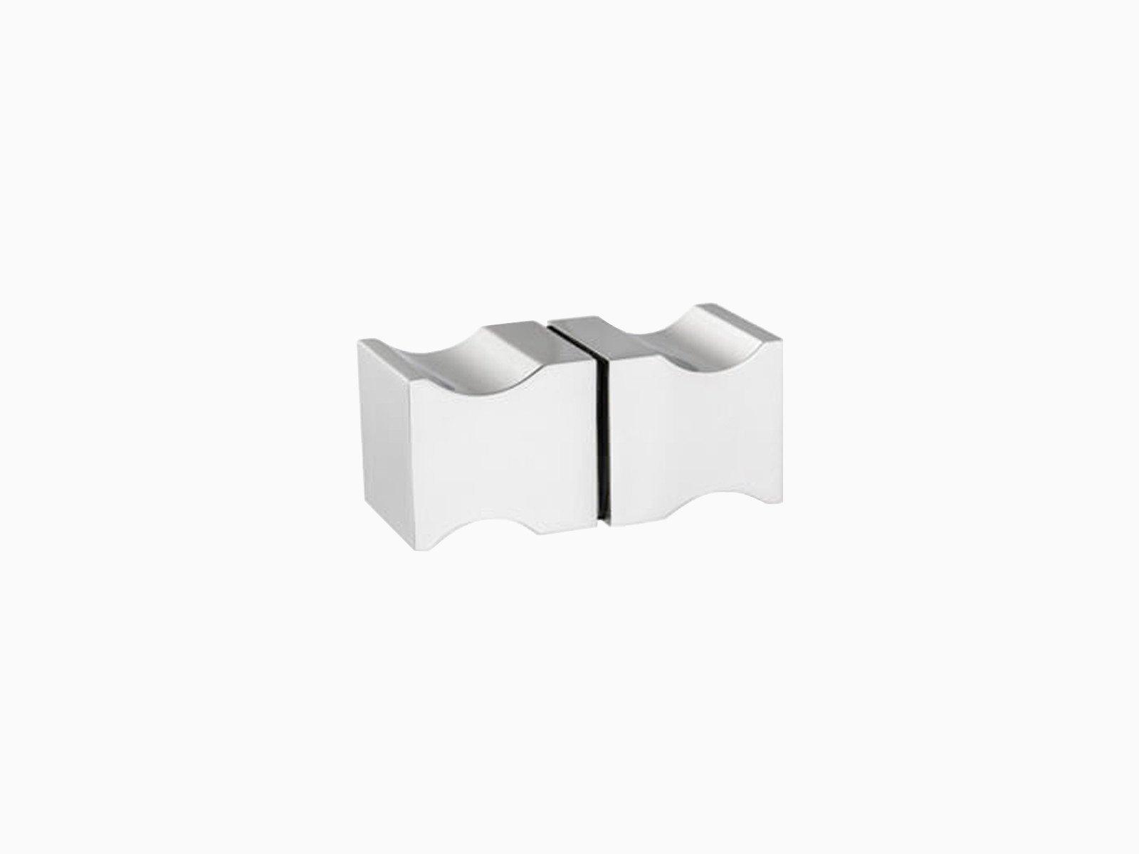 Beidseitiger Türgriff für Glas in quadratischer Form in hochglänzendem Edelstahl