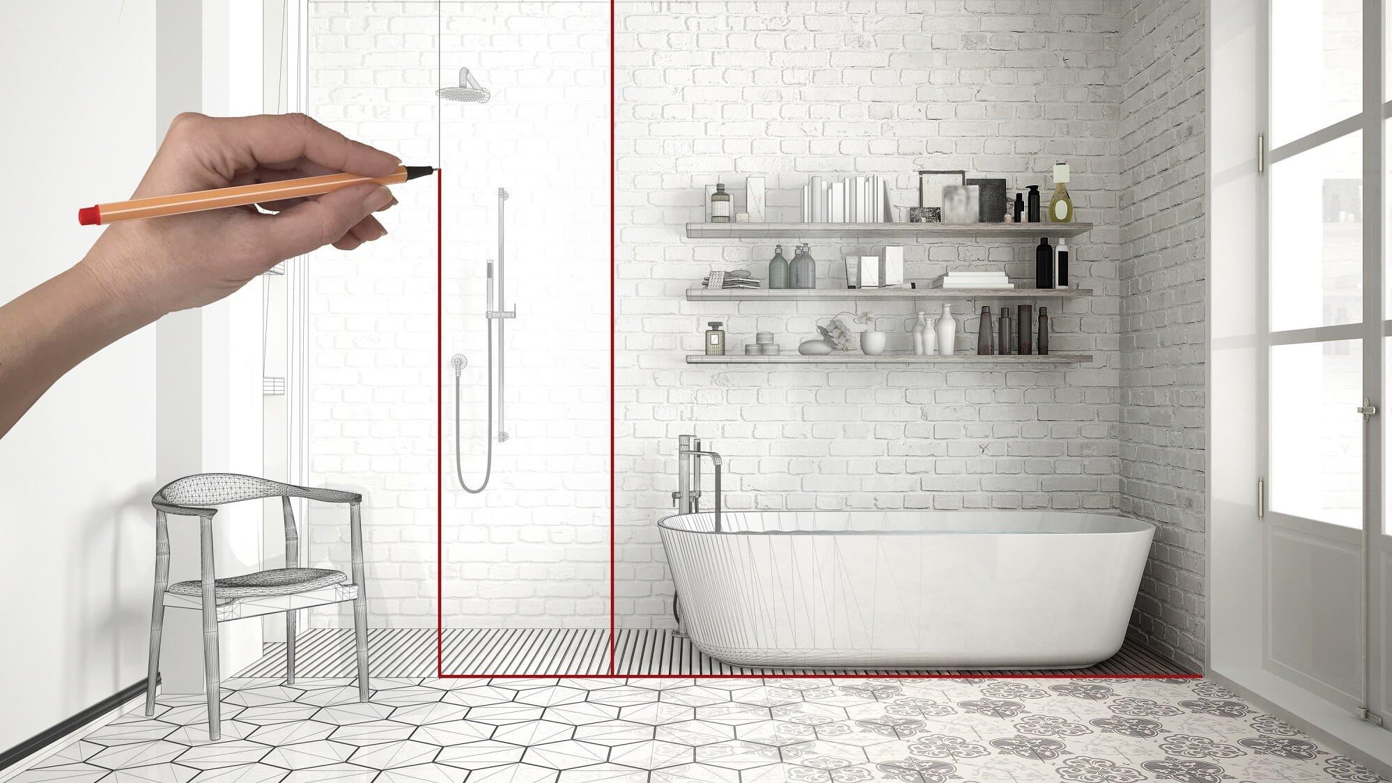 Dusche nach Maß für eine flexible Raumgestaltung