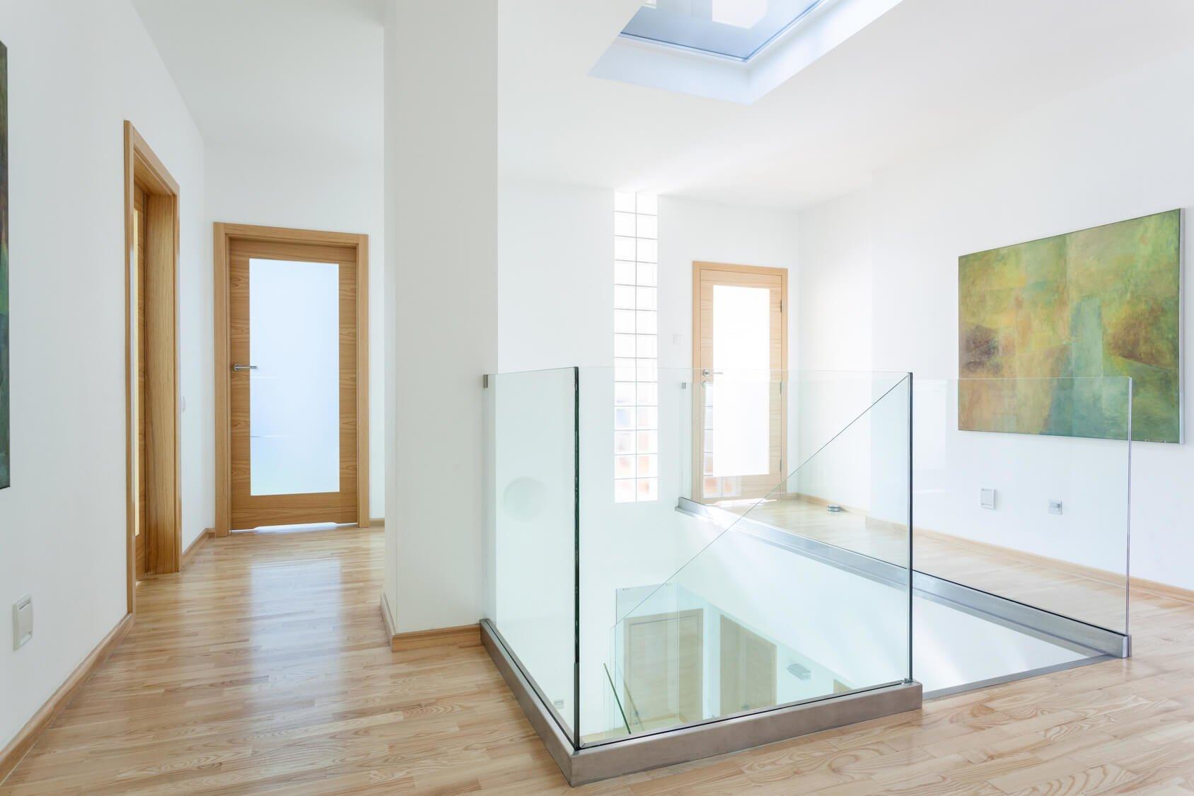 Glasbrüstung Indoor als Treppengeländer