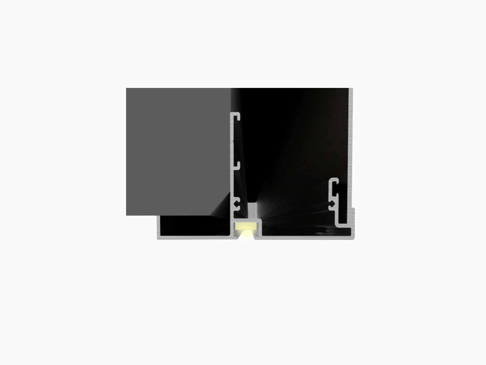 Glasbruestung Baldosa mit LED Lichtleiste inkl Trafo