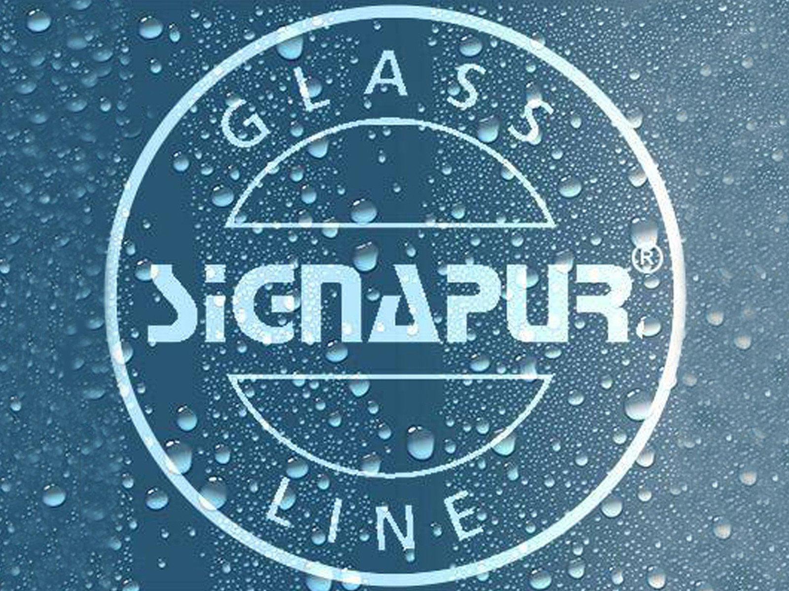 SIGNAPUR mit Lotuseffekt für eine optimale Versiegelung von Glas