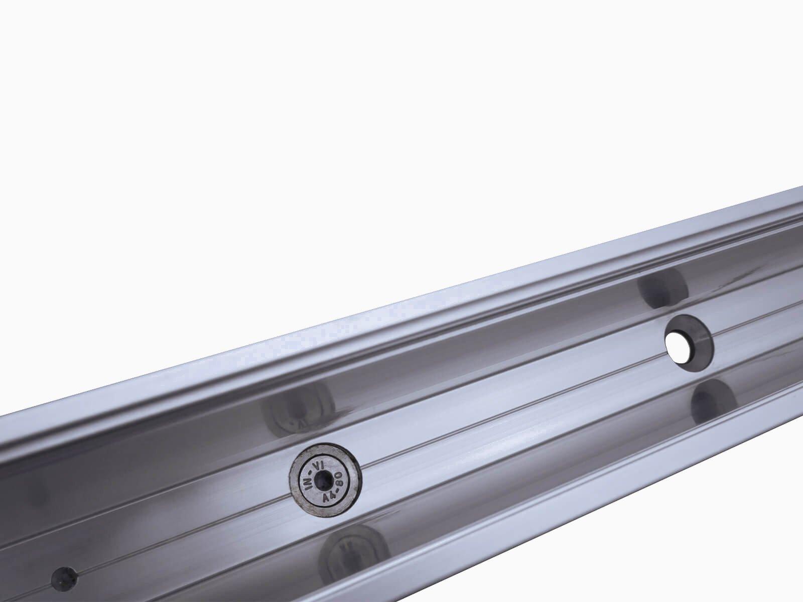 Brüstungsgeländer aus Glas FORMAL direkte Befestigung durch Profilboden platzsparende Montagefläche