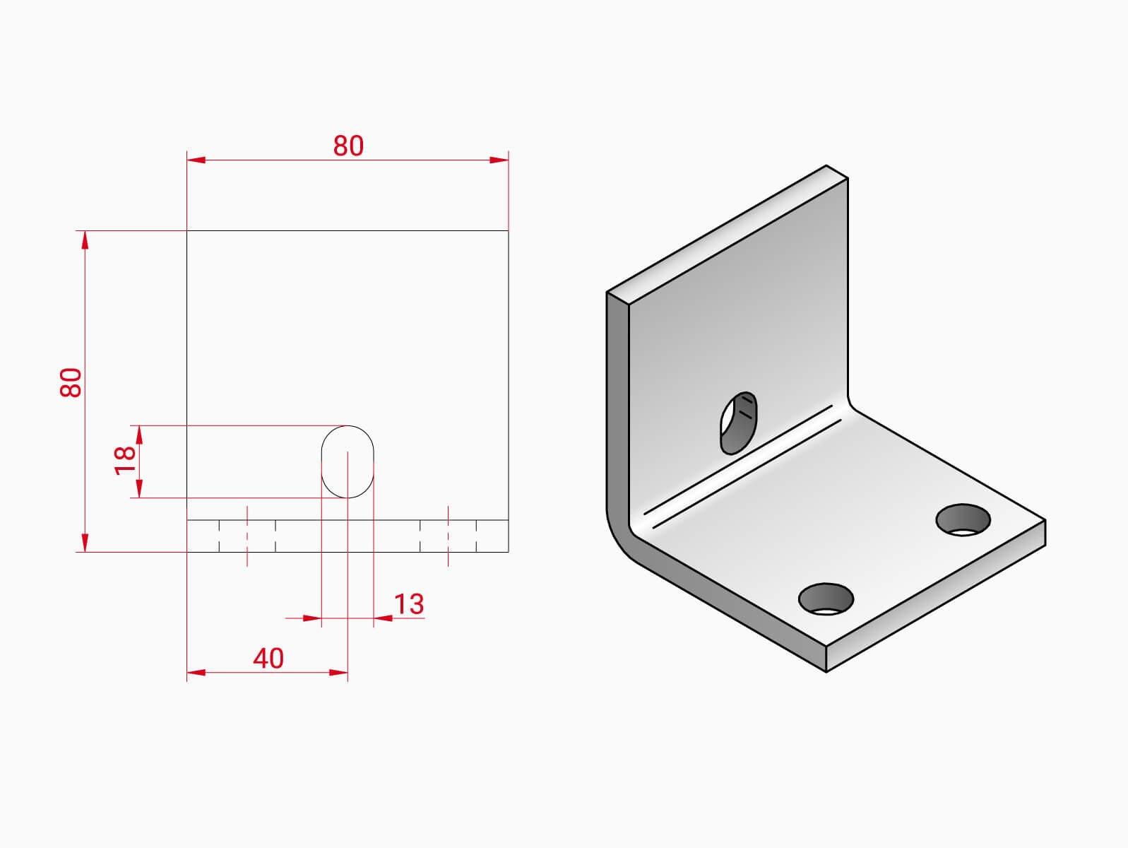 Unterkonstruktion Glasgelaender VARIANTE fuer einen erhoten Bodenaufbau bis zu 160 mm