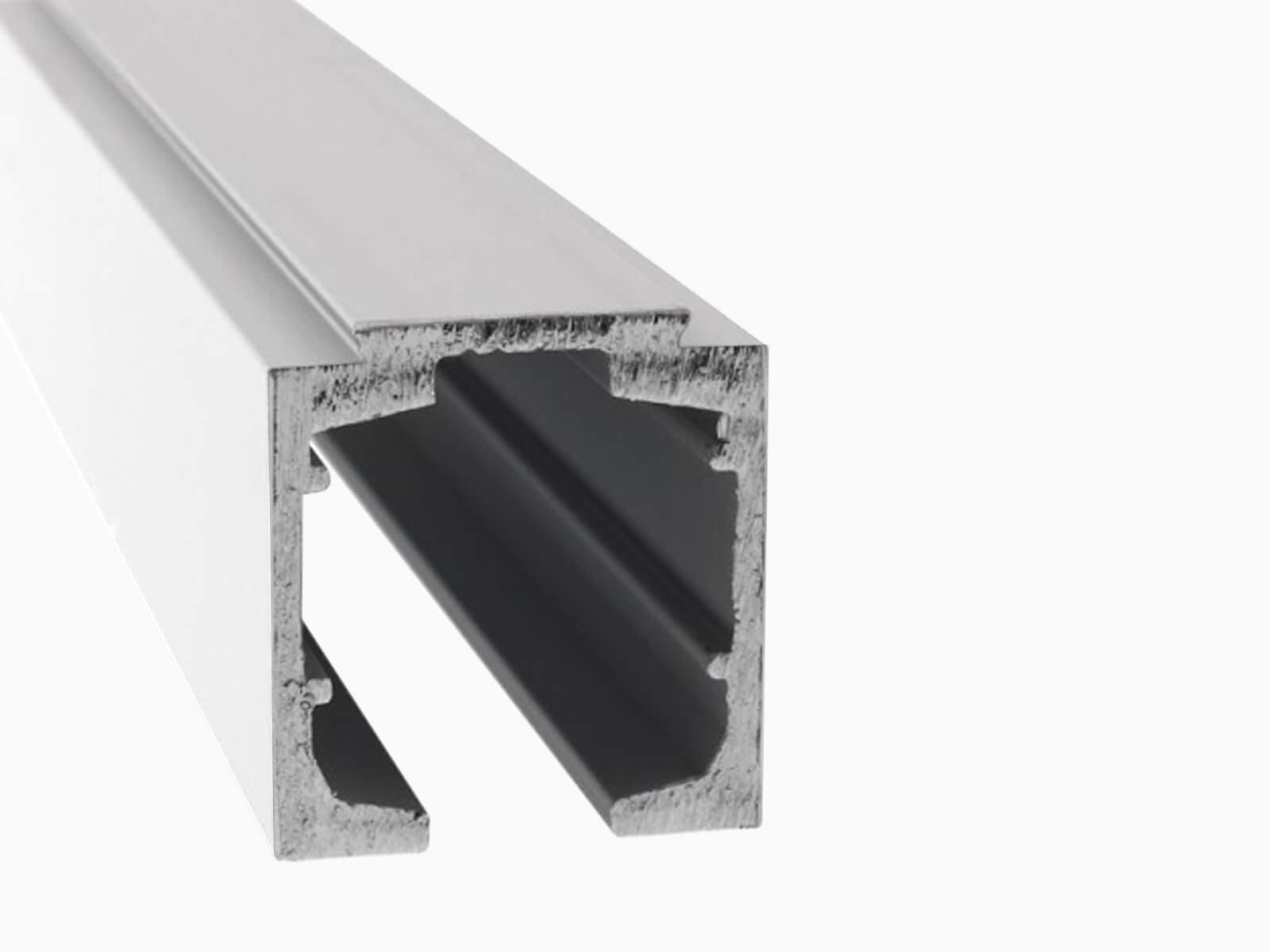 Deckenbefestigung aus Aluminium für Glasschiebetür