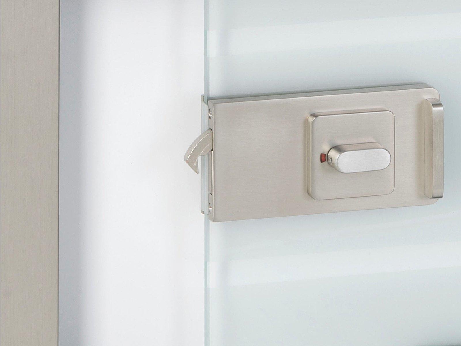 WC Schloss für Schiebetür aus Glas mit Softclose Funktion