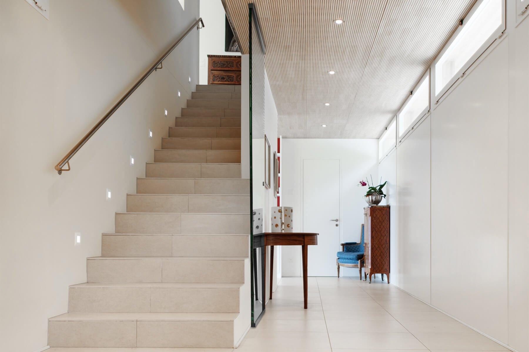 Treppenhaus verglast mit Slim Protect 1