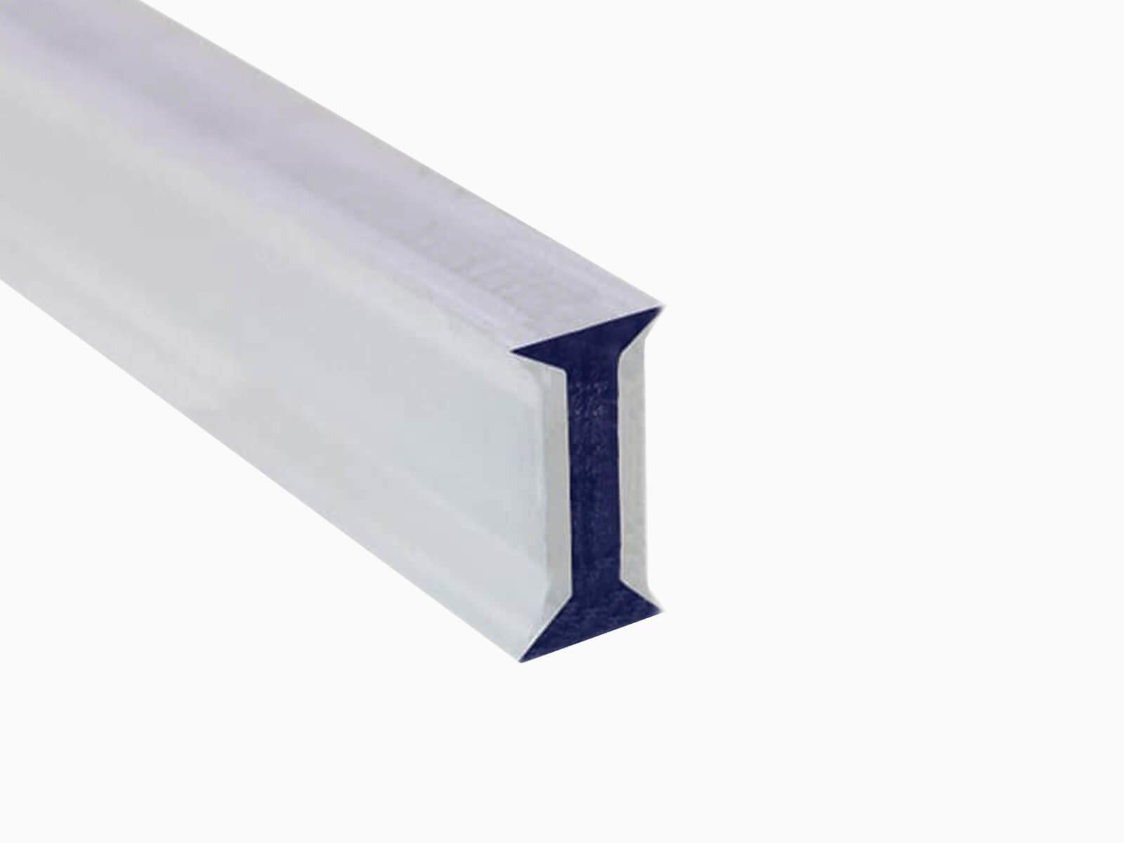 Kunststoffprofil für Glastrennwand im Industrie Look