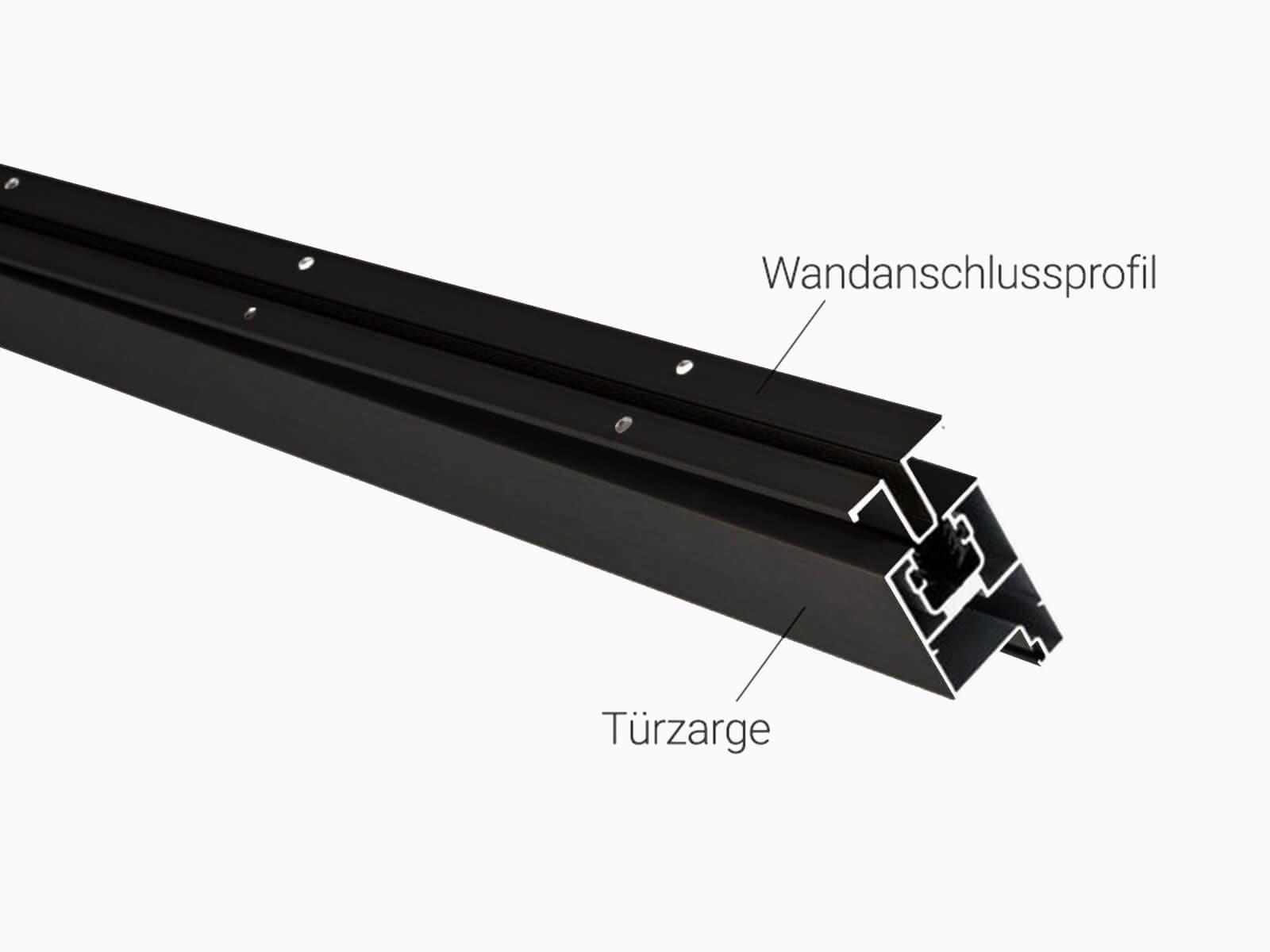 Wandanschlussprofil für Trennwand im Industrie Look