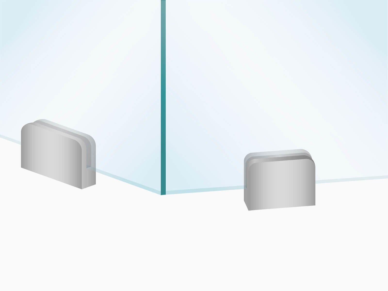 Glastrennwand PUR mit Winkel