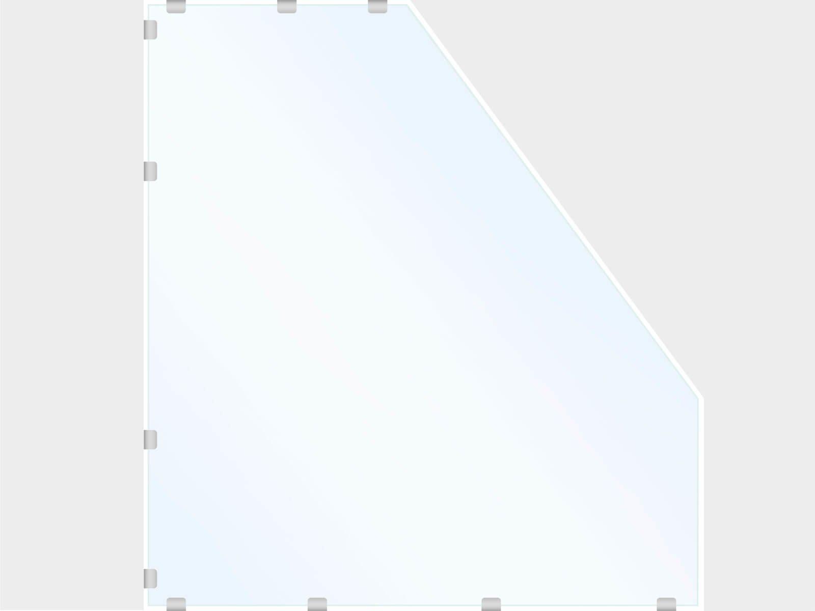 Glastrennwand PUR Schrägschnitt