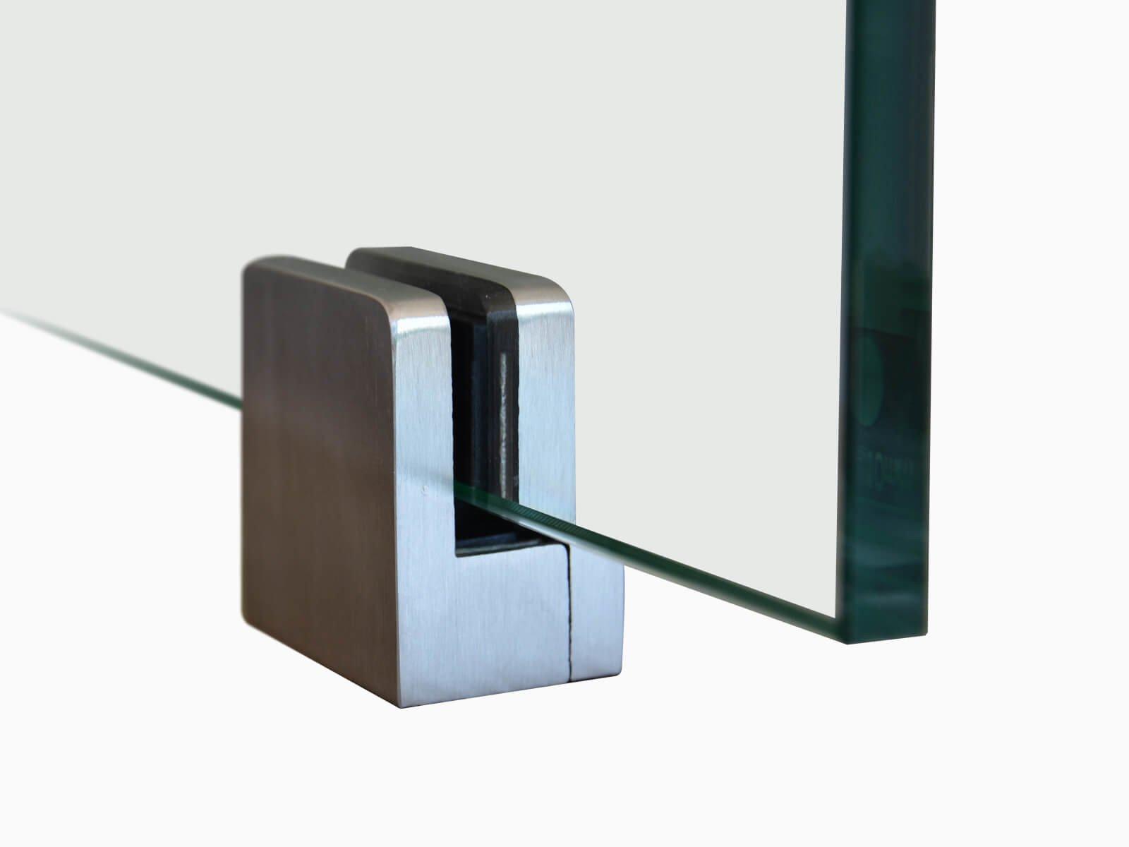 Trennwand Glas Klemme Serie PUR 10 mm