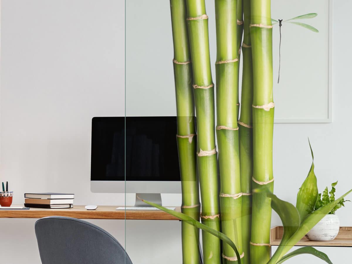 Bedruckte-Glastrennwand-mit-Motiv-Bambus-