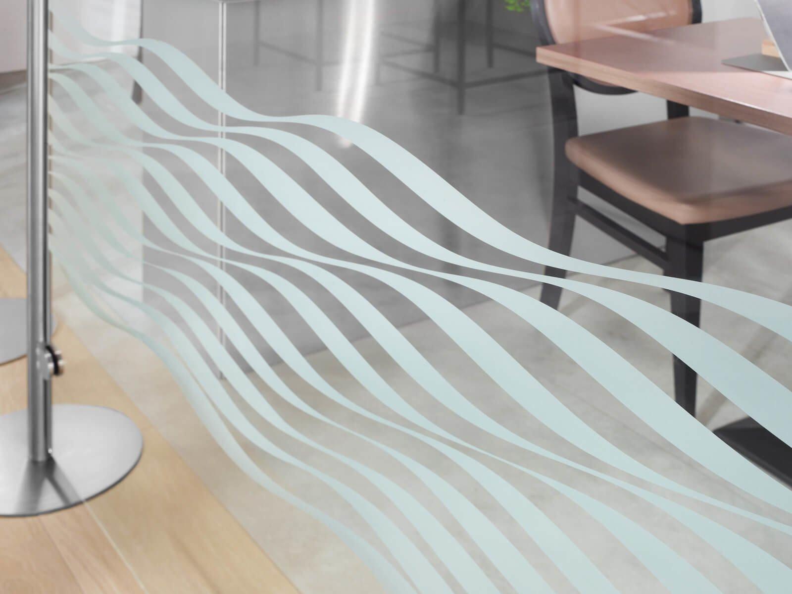 ESG Glas für Stellwand Posto