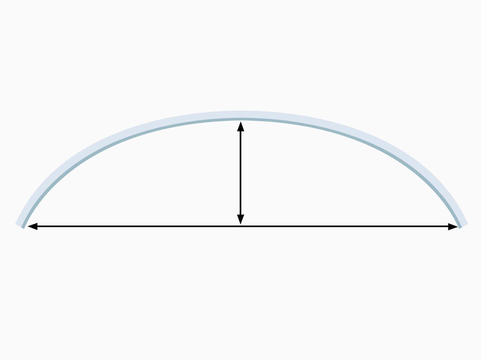 Illustration rundes Vordach