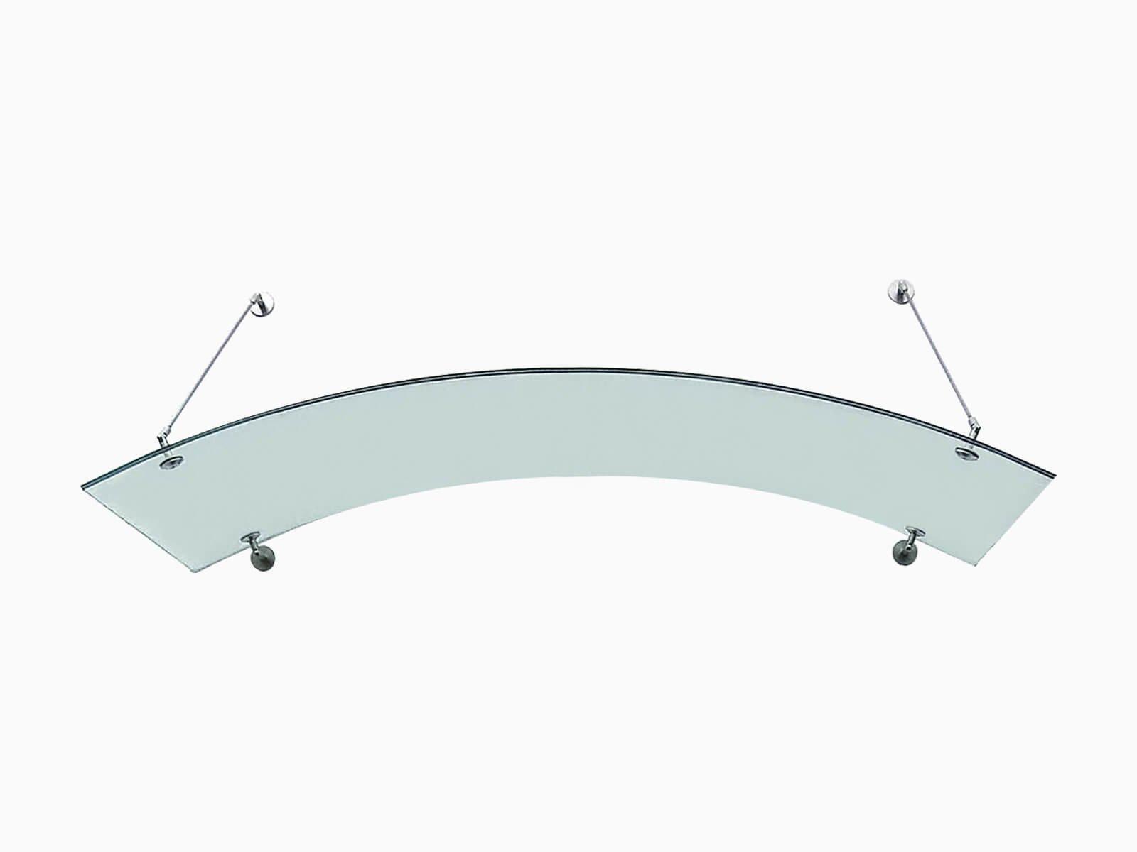 Rundbogenvordach aus Glas