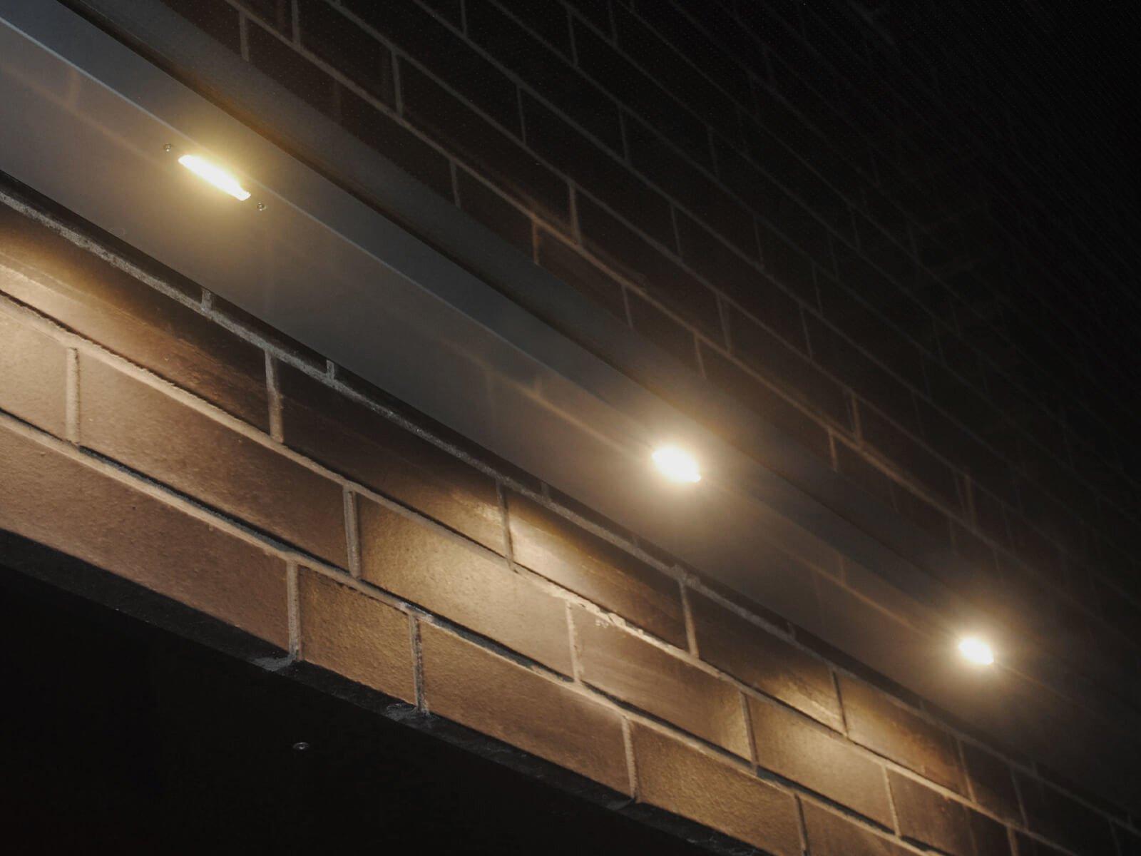 Haustür Vordach mit Beleuchtung