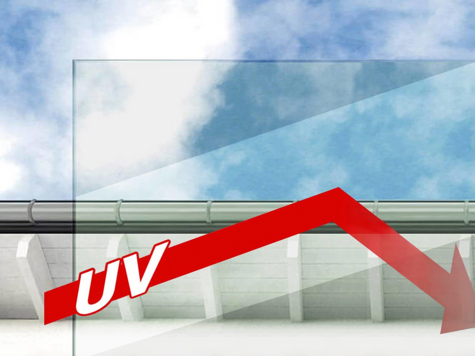 Vordach mit UV Schutz
