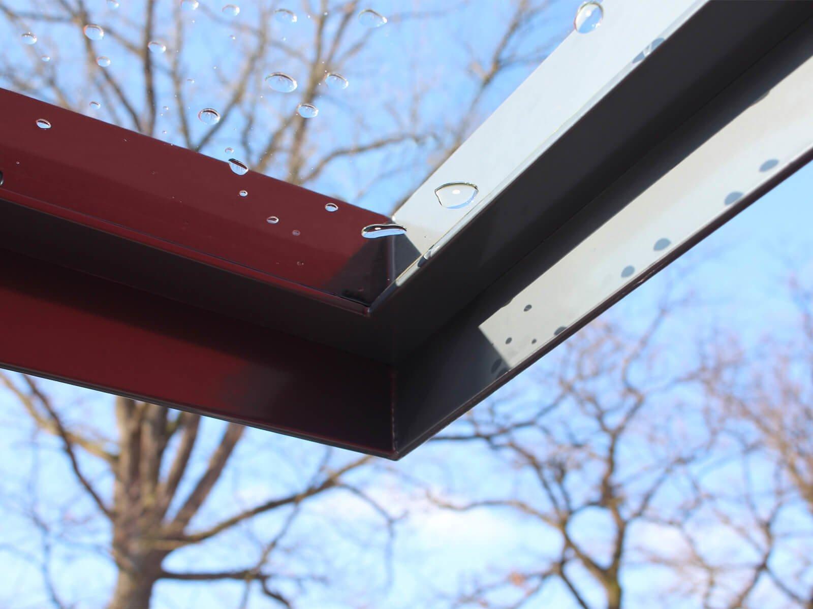 Farbig beschichteter Vordach Rahmen Ella