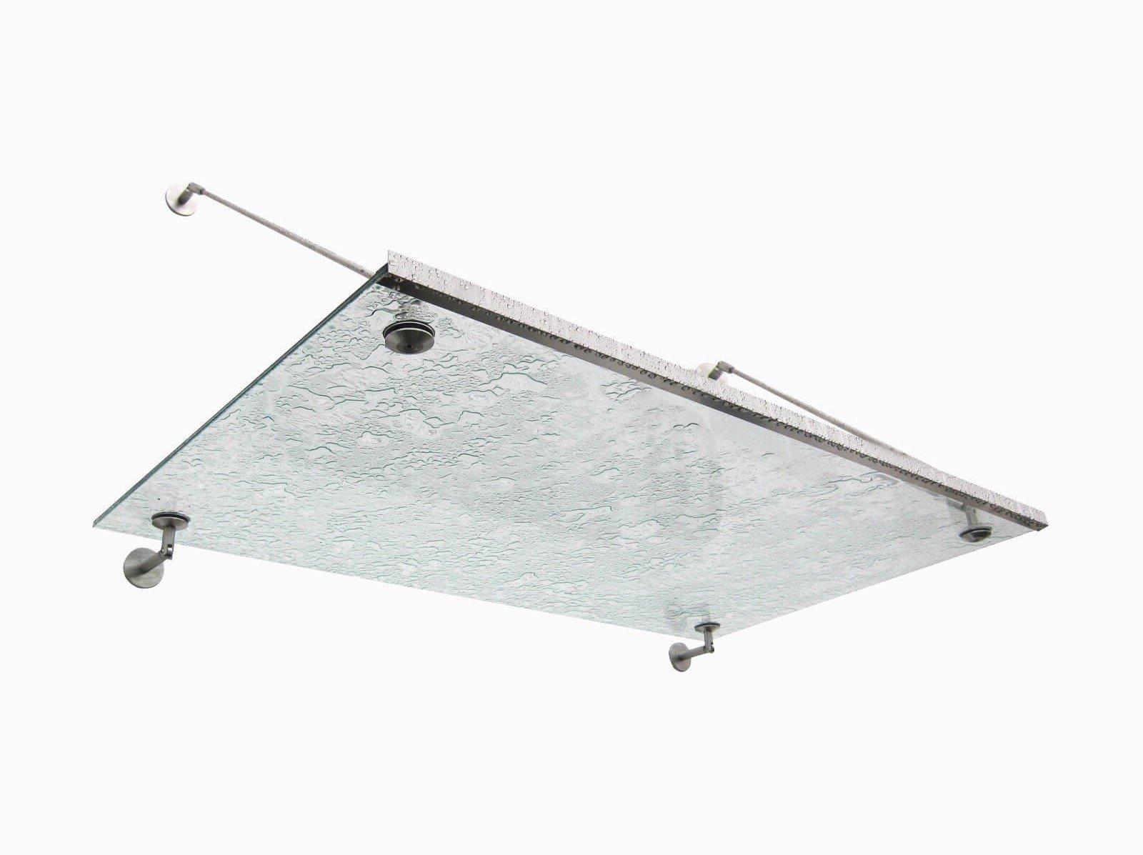 Aluminium Regenrinne an Vordach Punto