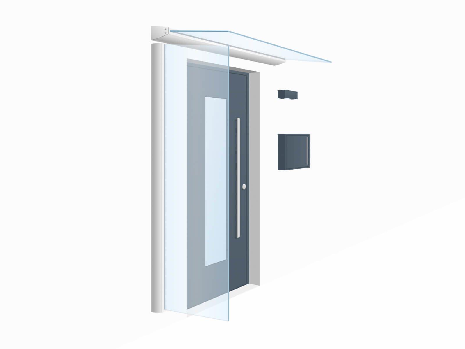 Individuelle Glas und Schrägschnitte beim Seitenwindschutz Blend beliebig positionierbar