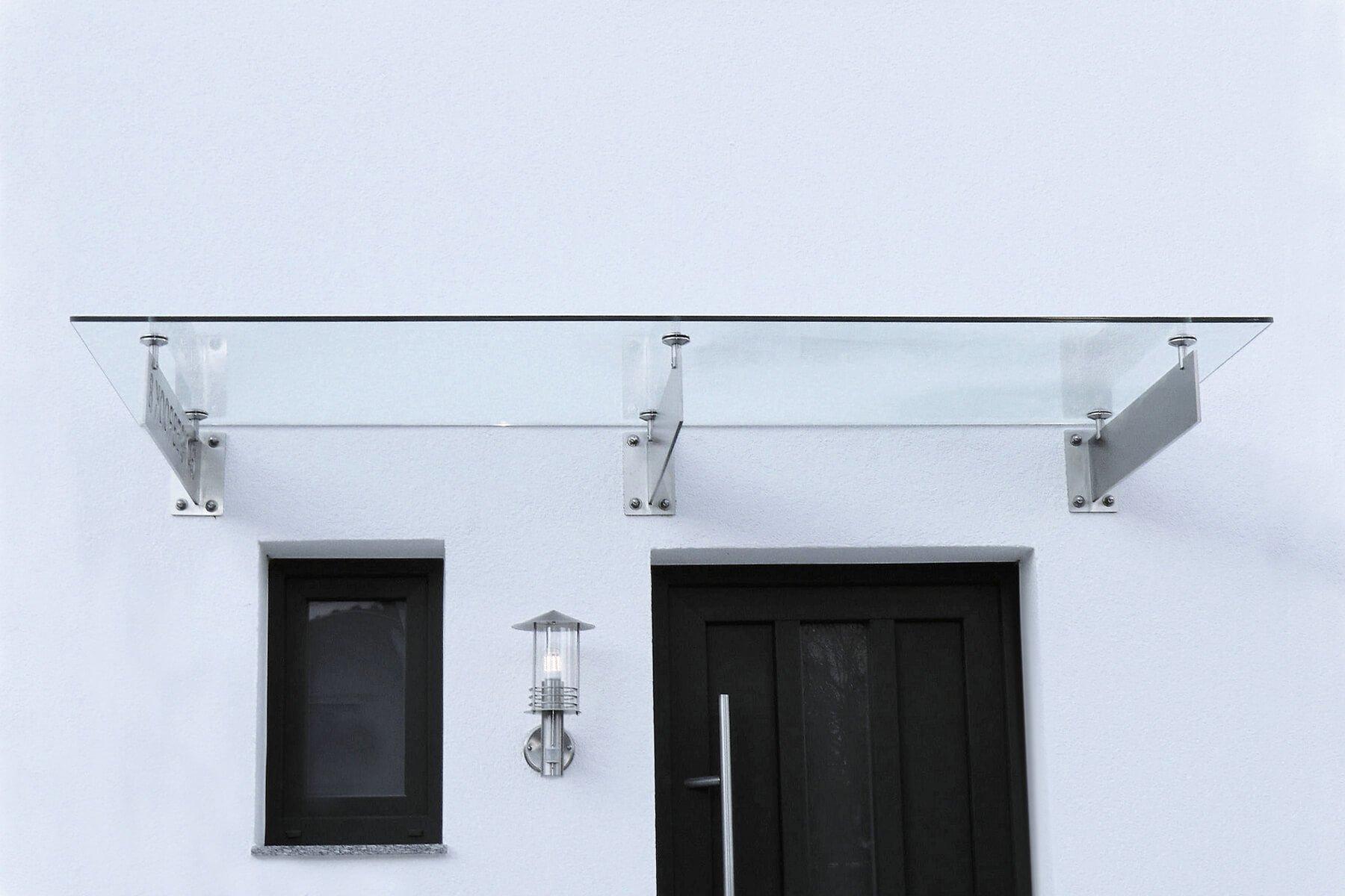 Glasvordach Spada über Tür und Fenster
