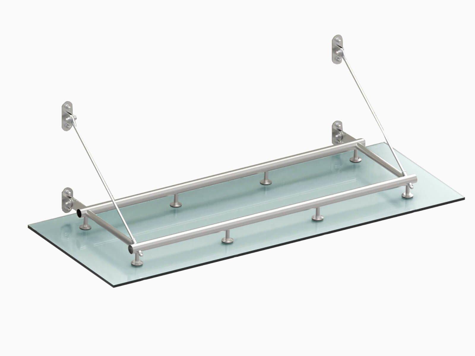 Konstruktion Glasvordach Tubo