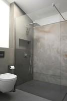 Barrierefreie Dusche als Abtrennung im Bad
