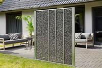 Gabione Genta als Sichtschutz und Windschutz mit Steinen gefüllt ideal für jeden Outdoorbereich