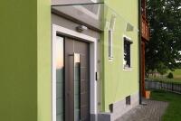 Glas Seitenteil Blend optimaler Windschutz für den Eingangsbereich