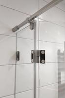 U-Form Duschwand mit Beschlag und Komponenten aus massivem Edelstahl