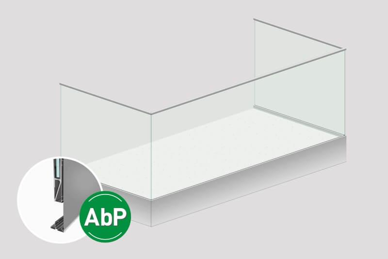 Glasgelaender Baldosa inkl. Kaschierung des Baukoerpers 60 cm