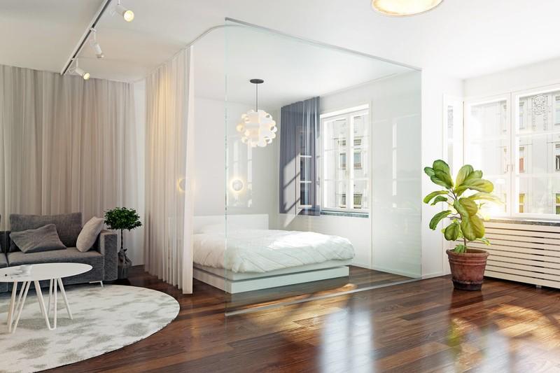 schlafbereich-mit-raumteiler-aus-glas-slim