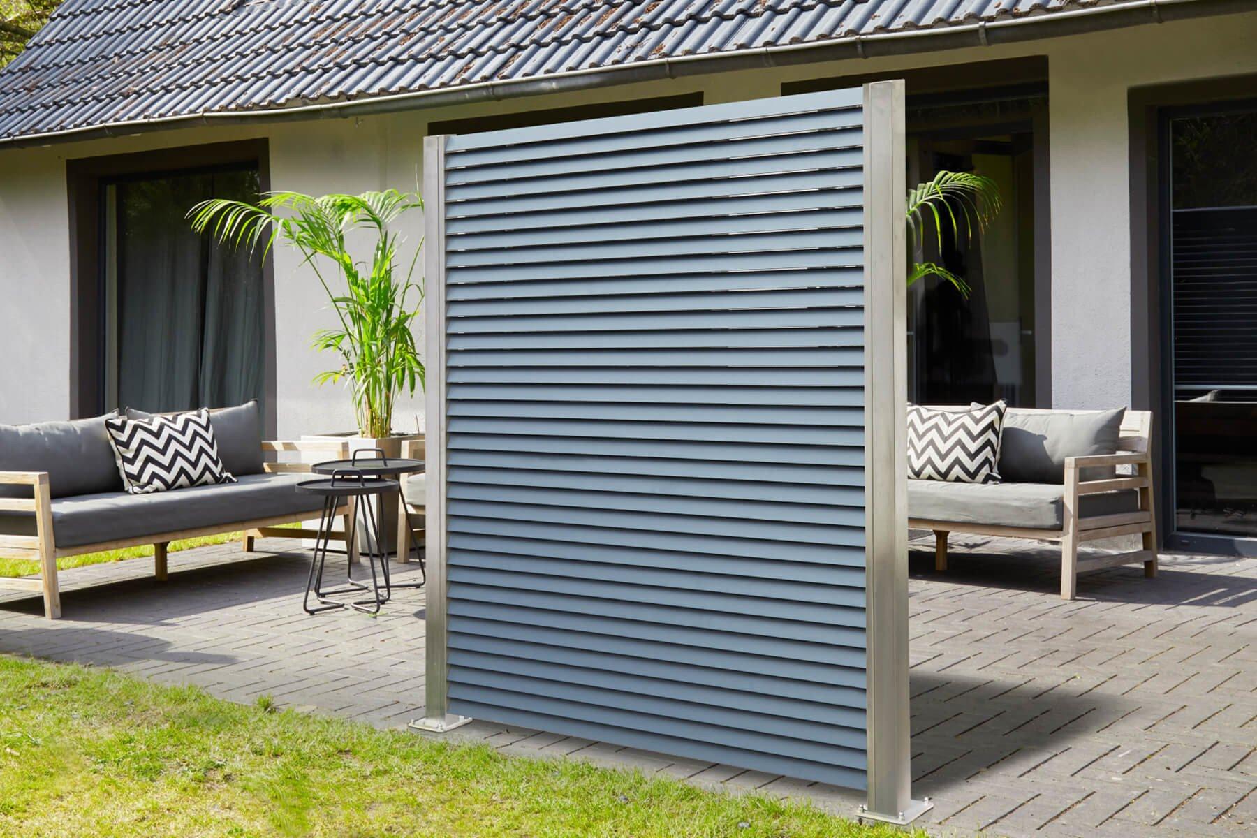 Lamellenzaun Porto mit Wind- und Sichtschutz sorgt für Privatsphäre auf der Terrasse Zuhause oder anderen Aussenbereichen erhältlich in verschiedenen Farben und Massen