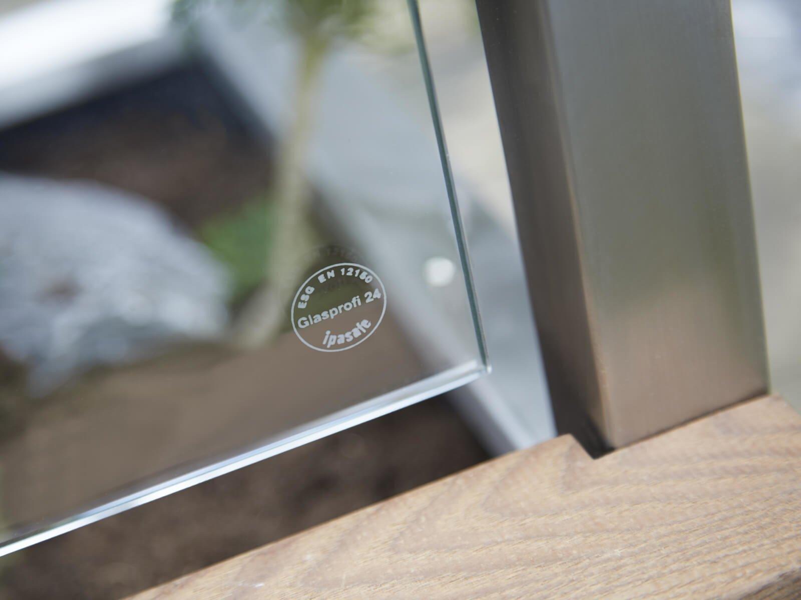 Gartenbank Sichtschutz aus Glas