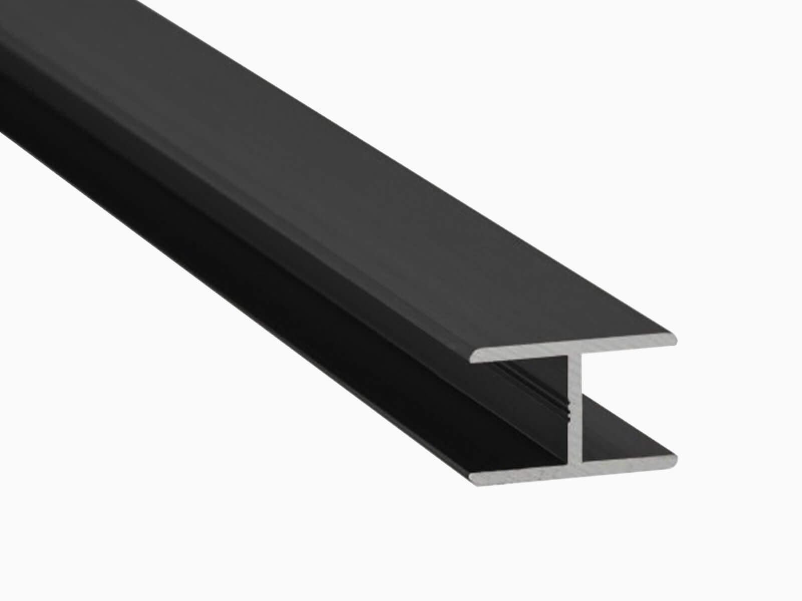 H-Profil für Glaszäune Schutz vor Delemanierung und Stoss anthrazit