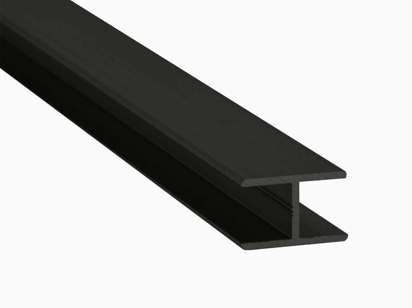 H-Profil für Glaszäune Schutz vor Delemanierung und Stoss schwarz