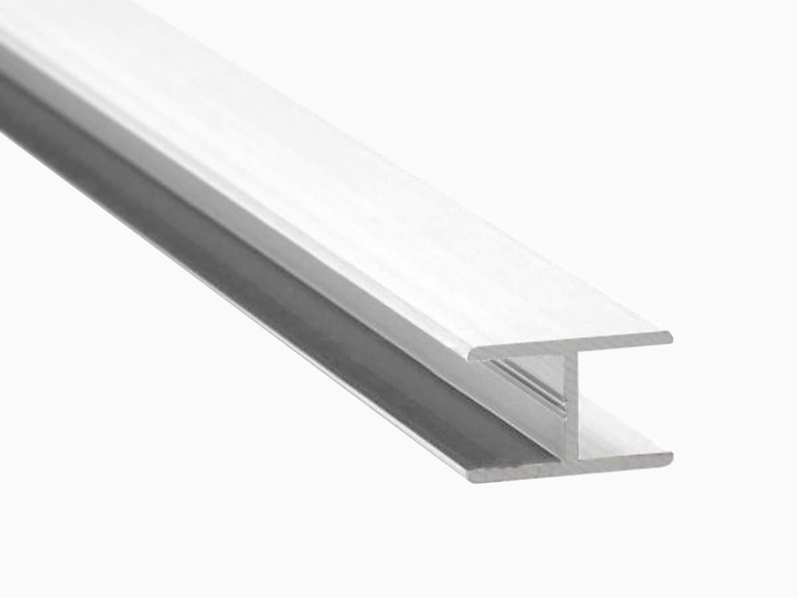 H-Profil für Glaszäune Schutz vor Delemanierung und Stoss weiss