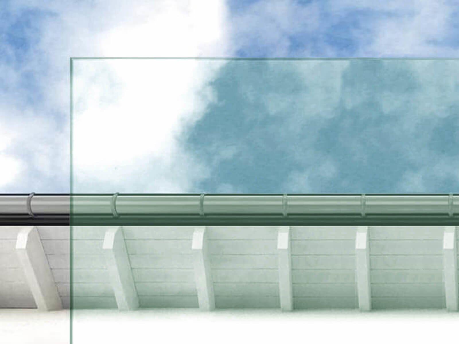 Individuelle Glasarten für Wind- und Sichtschutz Klarglas