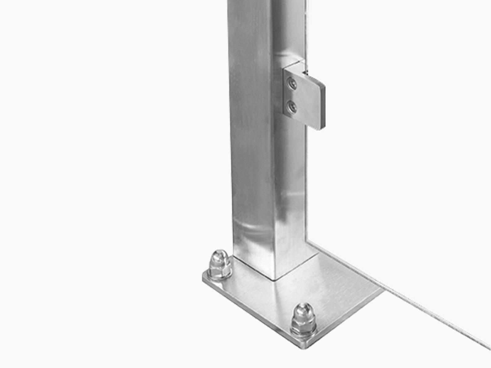 Montageart Wind- und Sichtschutz Feng verschraubt oder einbetoniert