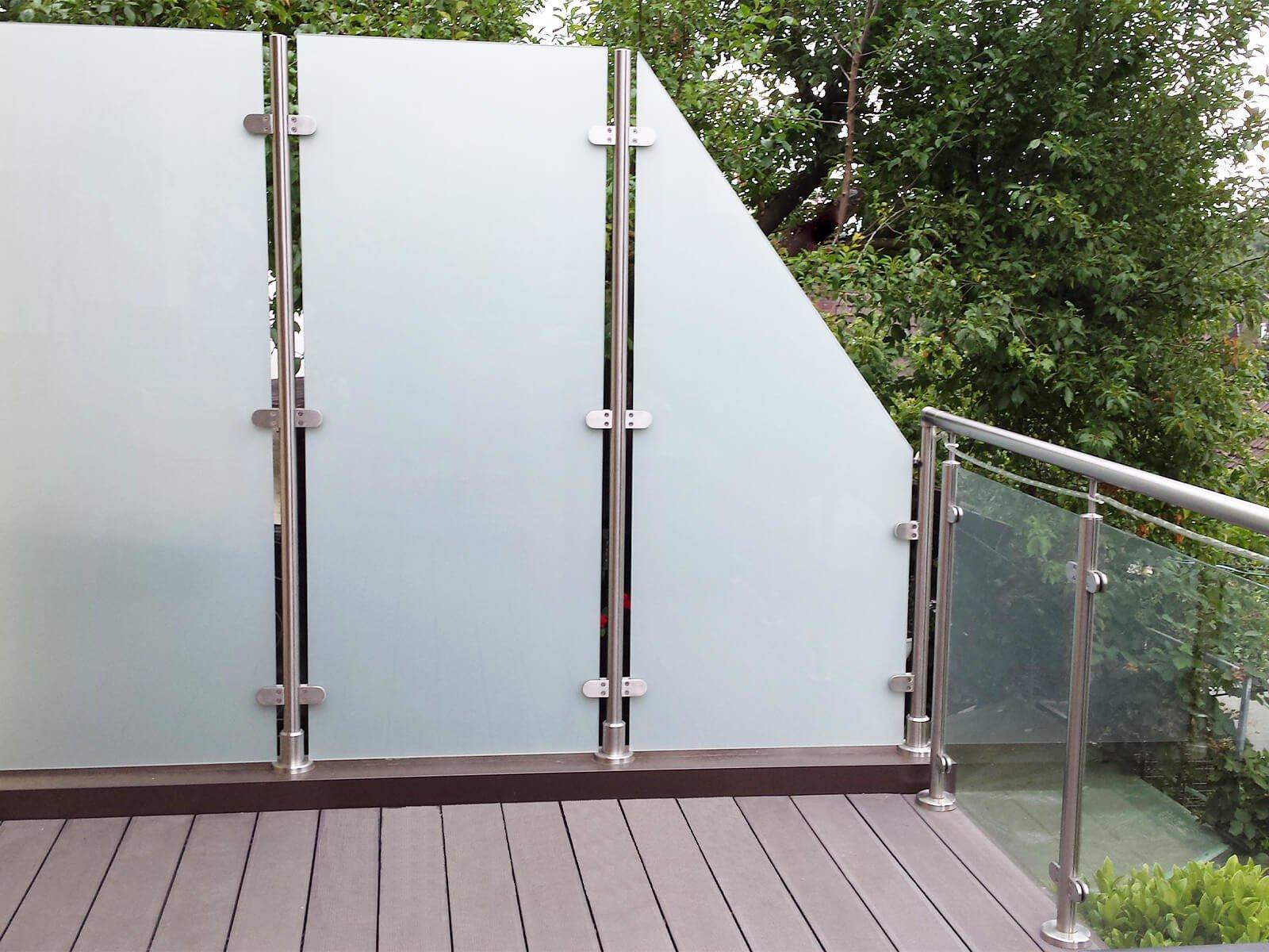 Wind- und Sichtschutz Transvent individuelle Schrägschnitte und Gestaltungsmöglichkeiten für Garten Terrasse und Balkon